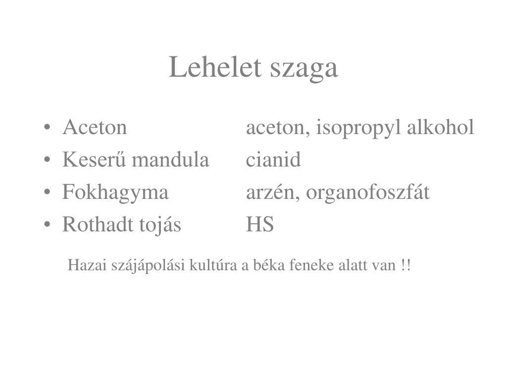 arzén szájszag)