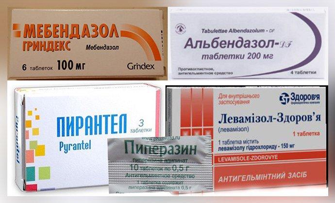 férgek tablettáitól