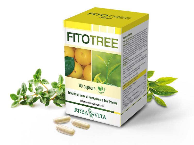 Erba Vita FitoTree grapefruit és teafa kapszula - 60db - VitaminNagyker webáruház