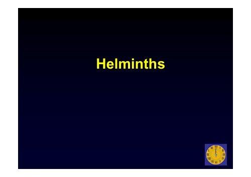 helminths kórokozók
