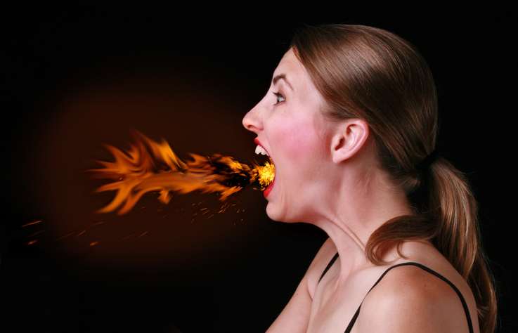 Lány szájszaga