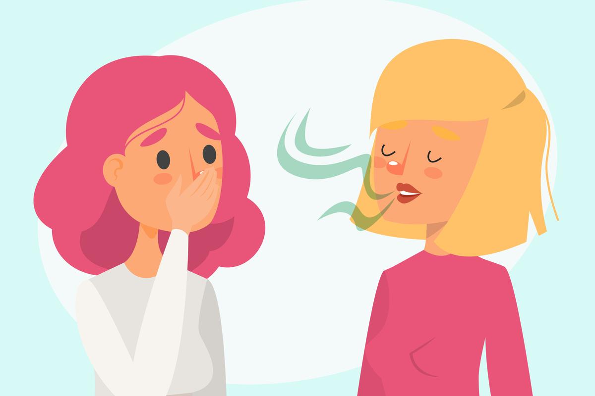 ha a lehelet folyamatosan rossz szagú