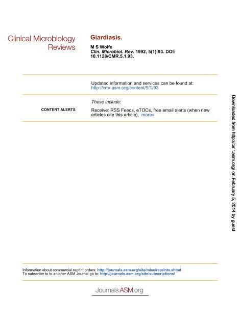 giardiasis prophylaxis