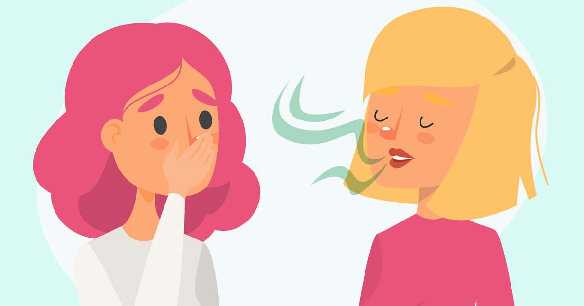rossz lehelet a nyelv plakkja miatt)