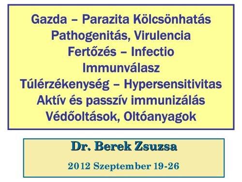 gazda- parazita kapcsolat)