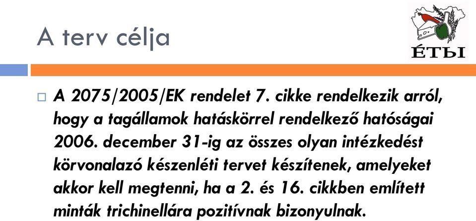 A trichinellózis aktuális problematikája Jugoszláviában