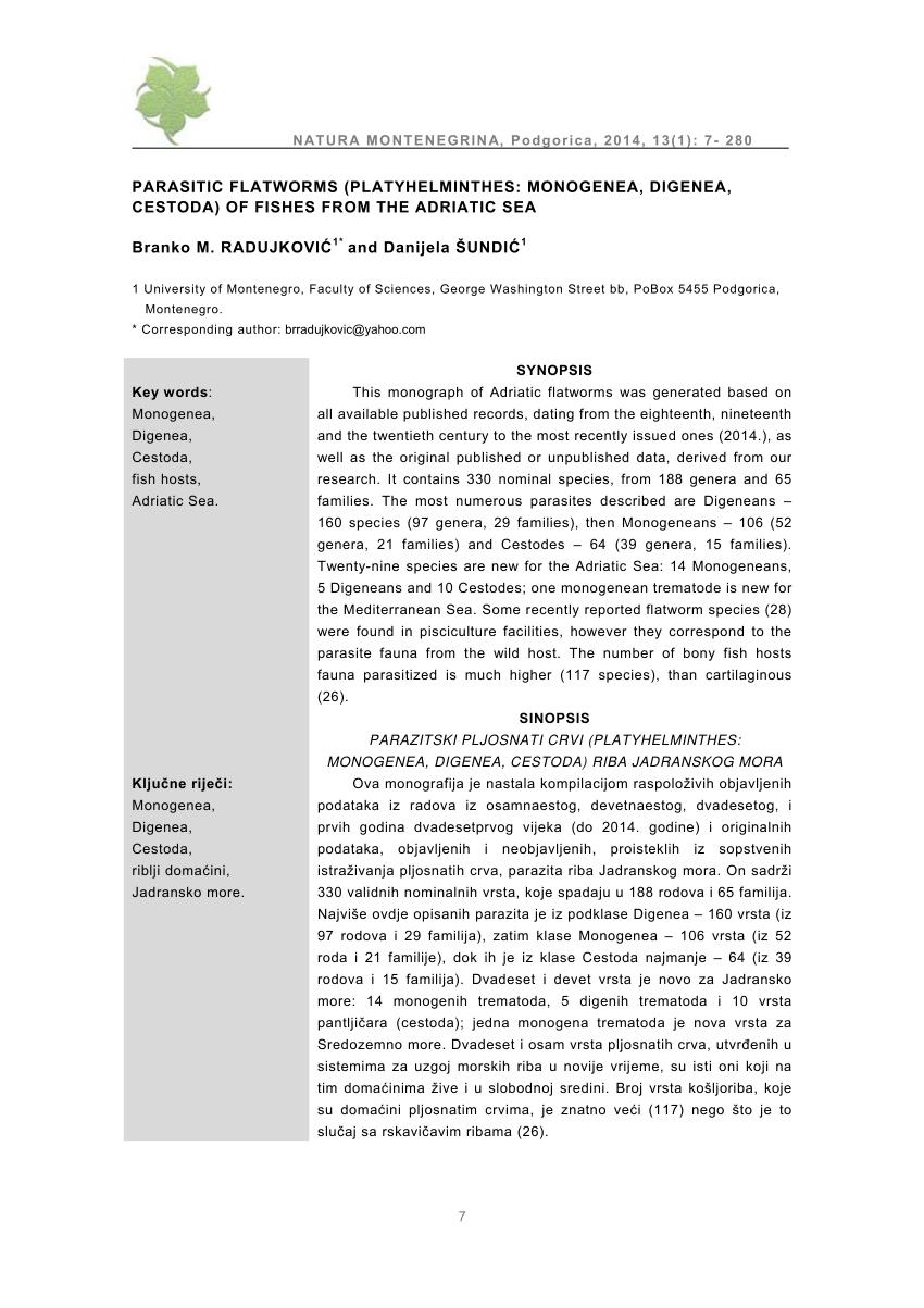 vers paraziták gyrodactylus et dactylogyrus ellen)