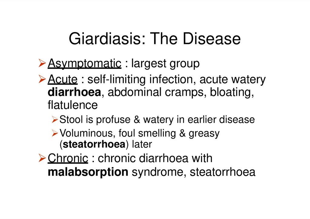 giardia biliary tract disease)