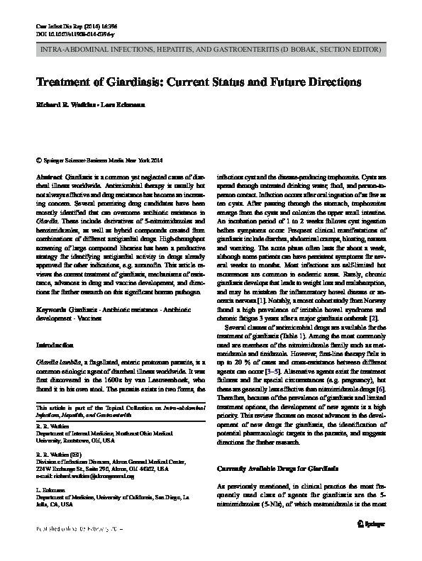 giardiasis tar