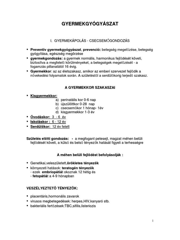 készítmények helmintákhoz egy év alatti gyermekek számára)